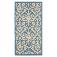 Safavieh Courtyard 2-Foot x 3-Foot 7-Inch Dakota Indoor/Outdoor Rug in Blue/Natural