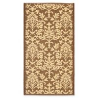 Safavieh Courtyard 2-Foot x 3-Foot 7-Inch Dakota Indoor/Outdoor Rug in Chocolate/Natural