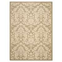 Safavieh Courtyard 8-Foot x 11-Foot Dakota Indoor/Outdoor Rug in Olive/Natural