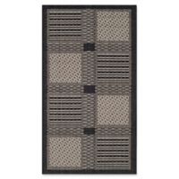 Safavieh Courtyard 2-Foot x 3-Foot 7-Inch Bella Indoor/Outdoor Rug in Black/Sand