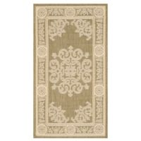 Safavieh Courtyard 2-Foot x 3-Foot 7-Inch Laila Indoor/Outdoor Rug in Olive/Natural