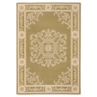 Safavieh Courtyard 4-Foot x 5-Foot 7-Inch Laila Indoor/Outdoor Rug in Olive/Natural