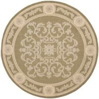 Safavieh Courtyard 6-Foot 7-Inch x 6-Foot 7-Inch Laila Indoor/Outdoor Rug in Olive/Natural