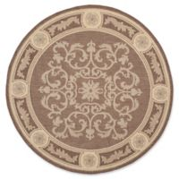Safavieh Courtyard 6-Foot 7-Inch x 6-Foot 7-Inch Laila Indoor/Outdoor Rug in Chocolate/Natural