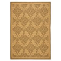 Safavieh Courtyard 4-Foot x 5-Foot 7-Inch Eve Indoor/Outdoor Rug in Gold/Natural