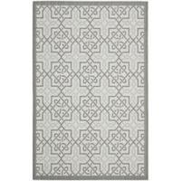 Safavieh Courtyard 6-Foot 7-Inch x 9-Foot 6-Inch Gwen Indoor/Outdoor Rug in Light Grey/Anthracite