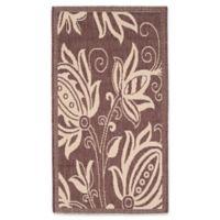 Safavieh Courtyard 2-Foot x 3-Foot 7-Inch Reese Indoor/Outdoor Rug in Chocolate/Natural