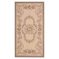 Safavieh Courtyard 2-Foot 7-Inch x 5-Foot Lucy Indoor/Outdoor Rug in Natural/Brown