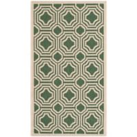 Safavieh Courtyard 2-Foot 7-Inch x 5-Foot Ember Indoor/Outdoor Rug in Dark Green/Beige