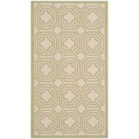 Safavieh Courtyard 2-Foot 7-Inch x 5-Foot Ember Indoor/Outdoor Rug in Beige/Sweet Pea