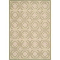 Safavieh Courtyard 5-Foot 3-Inch x 7-Foot 7-Inch Ember Indoor/Outdoor Rug in Beige/Sweet Pea
