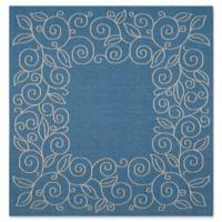 Safavieh Courtyard 6-Foot 7-Inch x 6-Foot 7-Inch Noelle Indoor/Outdoor Rug in Blue/Beige