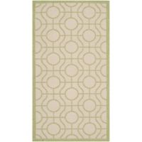Safavieh Courtyard 2-Foot 7-Inch x 5-Foot Elsie Indoor/Outdoor Rug in Beige/Sweet Pea