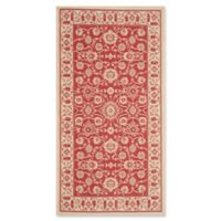 Safavieh Courtyard 2-Foot 7-Inch x 5-Foot Carly Indoor/Outdoor Rug in Red/Creme