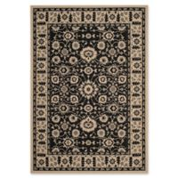 Safavieh Courtyard 4-Foot x 5-Foot 7-Inch Carly Indoor/Outdoor Rug in Black/Creme