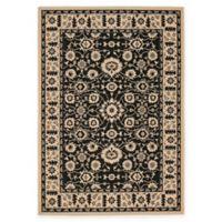 Safavieh Courtyard 5-Foot 3-Inch x 7-Foot 7-Inch Carly Indoor/Outdoor Rug in Creme/Black