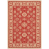 Safavieh Courtyard 8-Foot x 11-Foot Carly Indoor/Outdoor Rug in Red/Creme