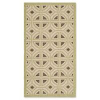 Safavieh Courtyard 2-Foot 7-Inch x 5-Foot Dulce Indoor/Outdoor Rug in Beige/Sweet Pea