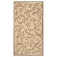 Safavieh Courtyard 2-Foot 7-Inch x 5-Foot Vivian Indoor/Outdoor Rug in Natural/Brown