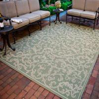 Safavieh Courtyard 6-Foot 7-Inch x 6-Foot 7-Inch Vivian Indoor/Outdoor Rug in Olive/Natural
