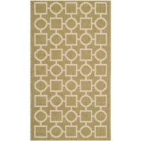 Safavieh Courtyard 2-Foot 7-Inch x 5-Foot Saylor Indoor/Outdoor Rug in Green/Beige