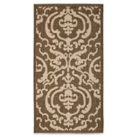Safavieh Courtyard 2-Foot x 3-Foot 7-Inch Sophie Indoor/Outdoor Rug in Chocolate/Natural