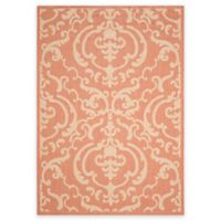 Safavieh Courtyard 8-Foot x 11-Foot Sophie Indoor/Outdoor Rug in Terracotta/Natural