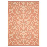 Safavieh Courtyard 9-Foot x 12-Foot Sophie Indoor/Outdoor Rug in Terracotta/Natural
