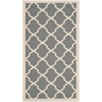 Safavieh Courtyard 2-Foot x 3-Foot 7-Inch Evie Indoor/Outdoor Rug in Anthracite/Beige