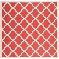 Safavieh Courtyard 4-Foot x 4-Foot Evie Indoor/Outdoor Rug in Red/Bone