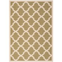 Safavieh Courtyard 5-Foot 3-Inch x 7-Foot 7-Inch Evie Indoor/Outdoor Rug in Green/Beige