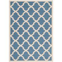 Safavieh Courtyard 5-Foot 3-Inch x 7-Foot 7-Inch Evie Indoor/Outdoor Rug in Blue/Beige