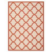 Safavieh Courtyard 5-Foot 3-Inch x 7-Foot 7-Inch Evie Indoor/Outdoor Rug in Beige/Terracotta