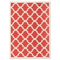 Safavieh Courtyard 5-Foot 3-Inch x 7-Foot 7-Inch Evie Indoor/Outdoor Rug in Red/Bone