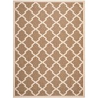 Safavieh Courtyard 8-Foot x 11-Foot Evie Indoor/Outdoor Rug in Brown/Bone