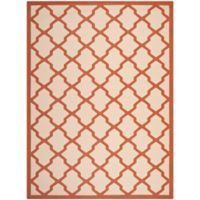 Safavieh Courtyard 8-Foot x 11-Foot Evie Indoor/Outdoor Rug in Beige/Terracotta