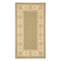 Safavieh Courtyard 2-Foot x 3-Foot 7-Inch Sofia Indoor/Outdoor Rug in Olive/Natural
