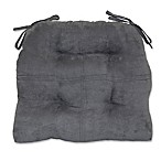 Summit Suede Waterfall Chair Pad in Grey