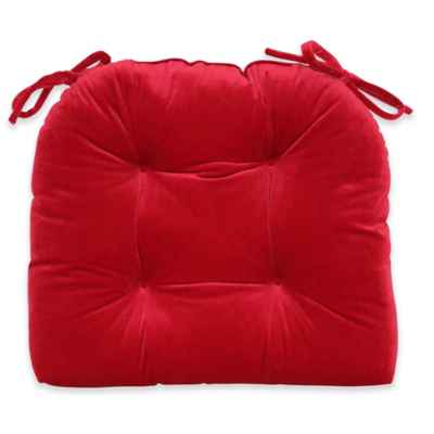 Vanderbilt Suede Chair Pad in Red