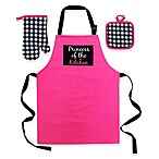 Princess Of The Kitchen  Kid's 3-Piece Apron Set