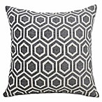 Tania Square Chenille Throw Pillow in Charcoal