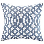 Madison Park Signature Trellis Throw Pillow in Indigo