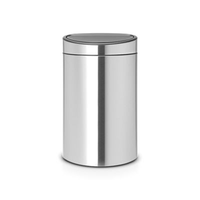 brabantia 106 gallon touch trash can in steel. Interior Design Ideas. Home Design Ideas