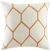 Madison Park Brooklyn Metallic Square Throw Pillows in Spice (Set of 2)