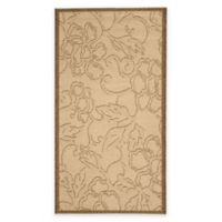 Safavieh Courtyard 2-Foot x 3-Foot 7-Inch Mariah Indoor/Outdoor Rug in Natural/Brown