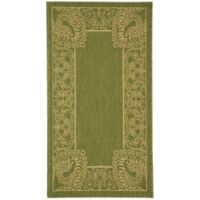 Safavieh Courtyard 2-Foot 7-Inch x 5-Foot Nova Indoor/Outdoor Rug in Olive/Natural