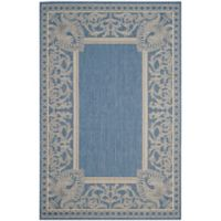 Safavieh Courtyard 5-Foot 3-Inch x 7-Foot 7-Inch Nova Indoor/Outdoor Rug in Blue/Natural
