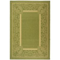 Safavieh Courtyard 5-Foot 3-Inch x 7-Foot 7-Inch Nova Indoor/Outdoor Rug in Olive/Natural