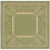 Safavieh Courtyard 6-Foot 7-Inch x 6-Foot 7-Inch Nova Indoor/Outdoor Rug in Olive/Natural