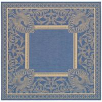 Safavieh Courtyard 6-Foot 7-Inch x 6-Foot 7-Inch Nova Indoor/Outdoor Rug in Blue/Natural